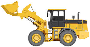 Big wheel loader Stock Images