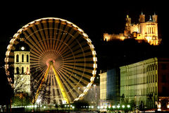Big wheel in Lyon (France) Stock Photography