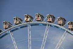Big wheel at Oktoberfest, Munich. Detail Stock Photo