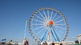Big wheel at Oktoberfest stock footage