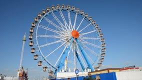 Big wheel at Oktoberfest stock video