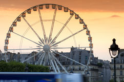 Big wheel in Paris city Royalty Free Stock Photo