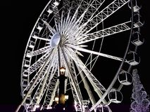 Big Wheel in paris on night stock photos