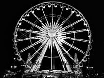 The Big Wheel in Paris - Place de la Concorde on Night stock images