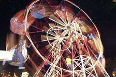 Big wheel powered by man power Stock Photo