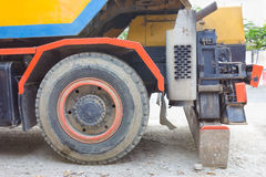 The big wheel of truck crane Royalty Free Stock Images