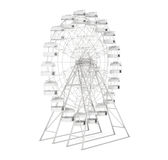 Big wheel white background. 3d rendering Stock Images