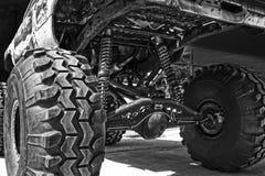 Big wheels. Modified old pickup car, on big wheels Royalty Free Stock Photography