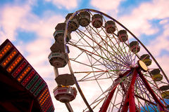 Big Whell. The Ferris Wheel at a Theme Park Royalty Free Stock Images