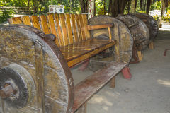 Big Whell Sofa at el Ceibo museum, Ometepe Island. Big Whell Sofa at el Ceibo museum, Ometepe Island, Rivas, Nicaragua Royalty Free Stock Photo