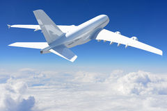 Big white airplane Royalty Free Stock Photo