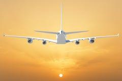 Big white airplane Stock Photo