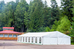 Big white banquet tent Stock Image