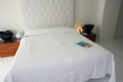 Big white bed. Stock Photography