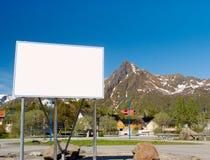 Big white billboard Royalty Free Stock Photos