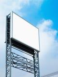 Big White Blank Banner Stock Photos