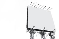 Big white blank billboard Royalty Free Stock Image