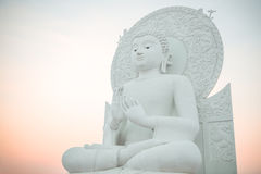 Big White Buddha image in Saraburi, Thailand. Big White Buddha image in Spiritual Center at Saraburi, Thailand Stock Photo