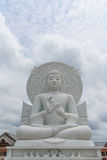 Big White Buddha image. Big White Buddha image in Spiritual Center at Saraburi, Thailand Royalty Free Stock Photos