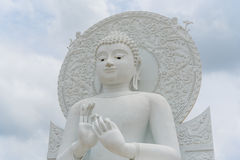 Big White Buddha image. Big White Buddha image in Spiritual Center at Saraburi, Thailand Royalty Free Stock Image