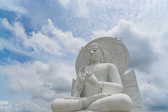 Big White Buddha image. Big White Buddha image in Spiritual Center at Saraburi, Thailand Royalty Free Stock Photo