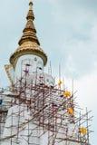 Big white buddha image statue Stock Images