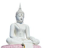 Big white buddha statue and blue sky Royalty Free Stock Photography