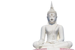 Big white buddha statue and blue sky Stock Image