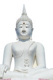 Big white buddha statue and blue sky Royalty Free Stock Images