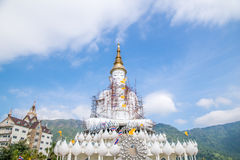 Big white buddha statue Stock Photos
