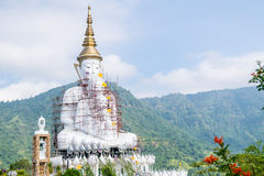 Big white buddha statue Stock Photography
