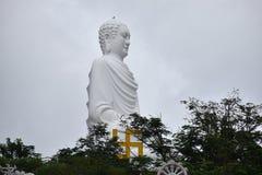 Big white Buddha statue at Long Son Pagoda in Nha Trang in Vietnam, Asia. Big white Buddha statue at Long Son Pagoda in Nha Trang in Vietnam in Asia stock image