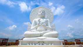 Big white buddha statue royalty free stock photography