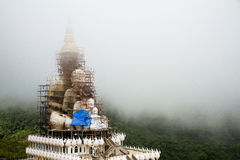 Big white buddha statue Under construction Stock Photography