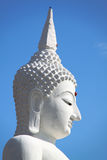 The Big White Buddha in thailand temple Royalty Free Stock Images