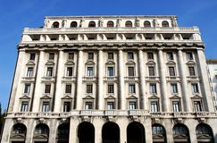 Big white building INPS office of Padua in Veneto (Italy) Royalty Free Stock Images