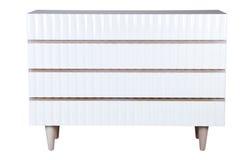 Big white cabinet. On white background Stock Image