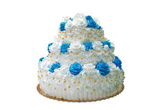A big white cake Royalty Free Stock Images