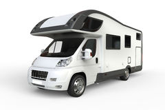 Big white camper van Stock Images