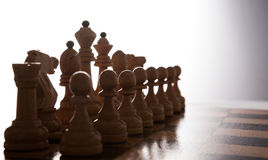 Big white chess pieces set Royalty Free Stock Images