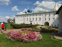 Big white Church in Russia Stock Image