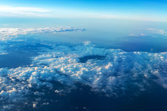 Big white cloud and blue sky background Royalty Free Stock Images