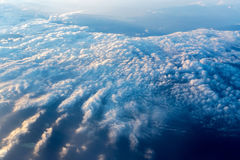 Big white cloud and blue sky background Stock Photos