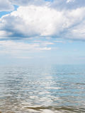 Big white cloud over calm water of Azov Sea Royalty Free Stock Photo