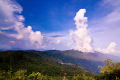 Big white cloud in the sky. Royalty Free Stock Photo