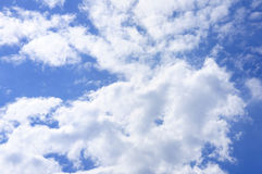 Big white cloud on sky, sun shine day. Royalty Free Stock Photos