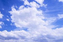 The big white clouds float in the sky Royalty Free Stock Image