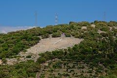 Free Big White Cross On A Hillside In Cunski, Croatia Royalty Free Stock Image - 96892696