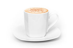Big white cup of cappuccino Stock Images