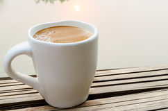 Big white cup of coffee Stock Photography